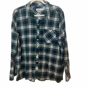 Vineyard Vines Relaxed Fit Green Plaid Button Down